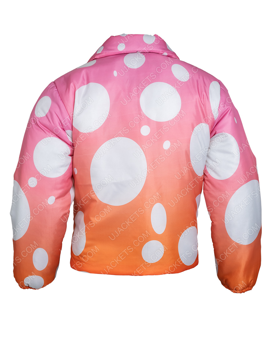 Justin Bieber Song Peaches 2021 Two-Tone Puffer Jacket