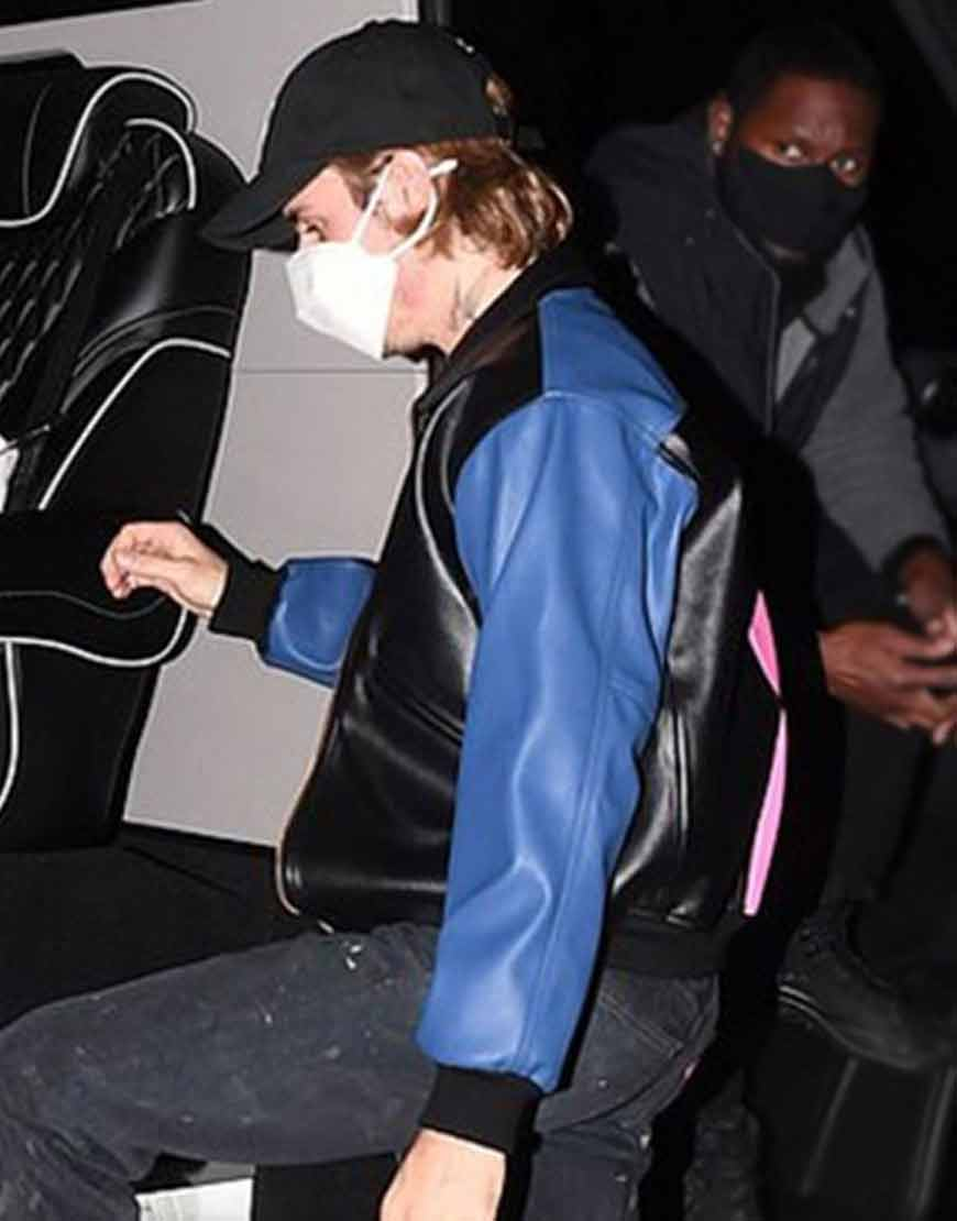 Justin-Bieber-Tri-Color-Leather-Jacket