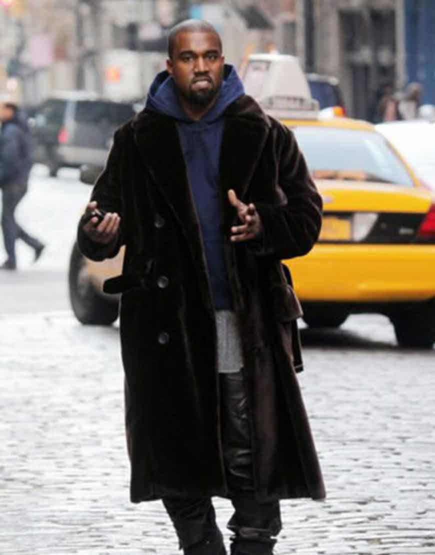 Kanye-West-Black-Velvet-Long-Coat