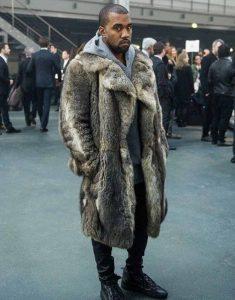 Kanye-West-Faux-Fur-Brown-Coat