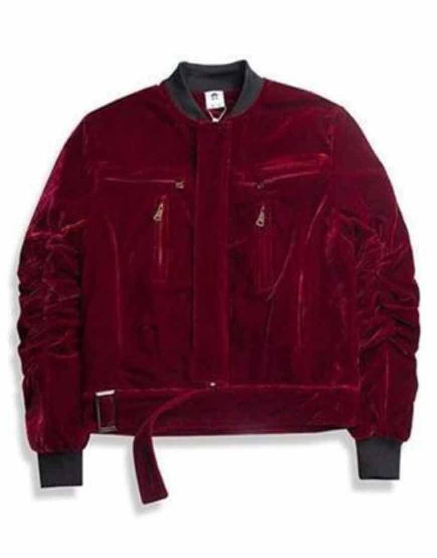 Kanye-West-Velvet-Bomber-Jacket