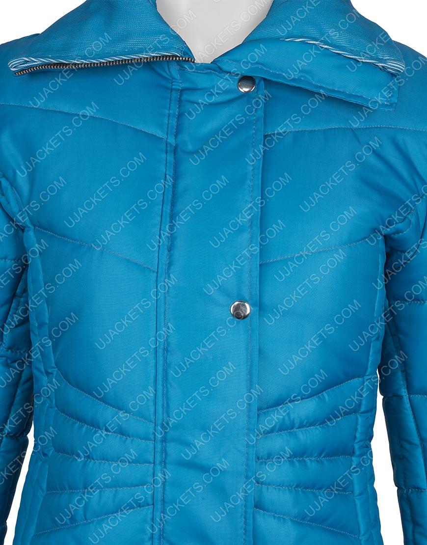 Kate Daniels Snowkissed 2021 Jen Lilley Blue Puffer Jacket