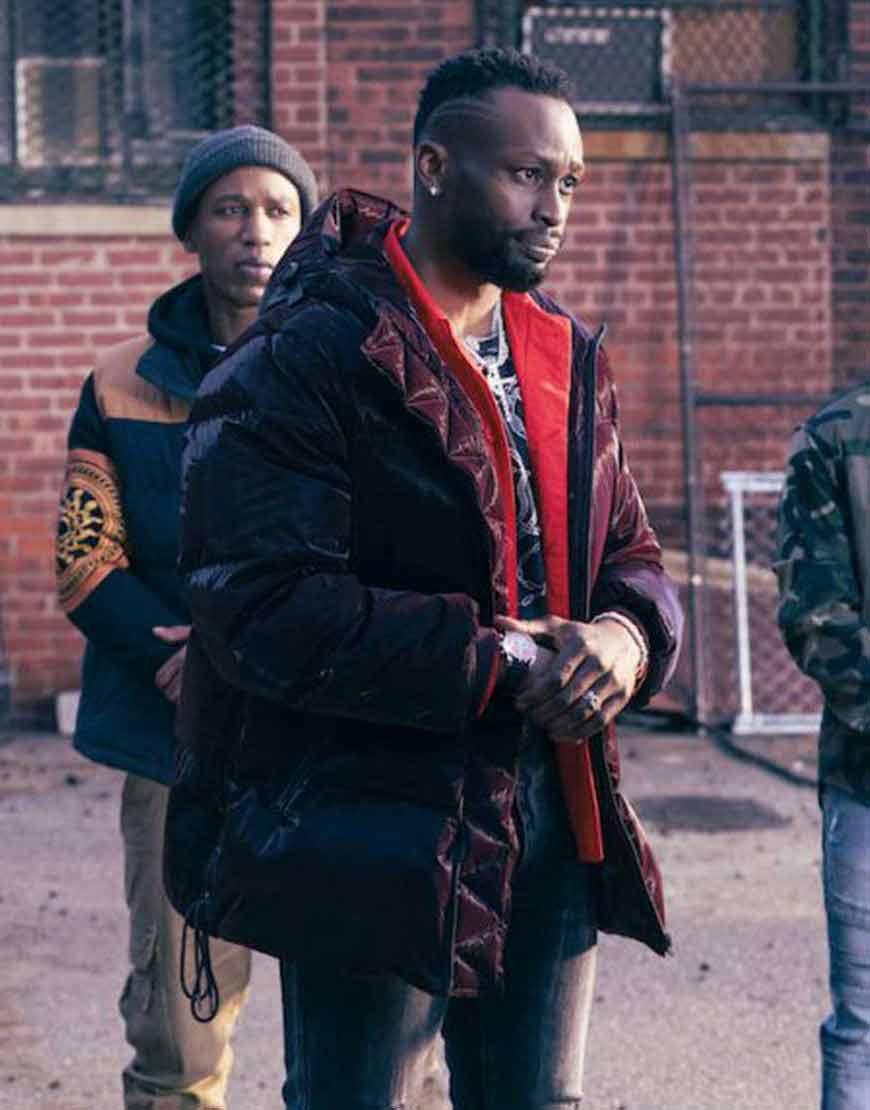 Kenya-Bell-The-Equalizer--Jayson-Wesley-Black-Puffer-Hooded-Jacket