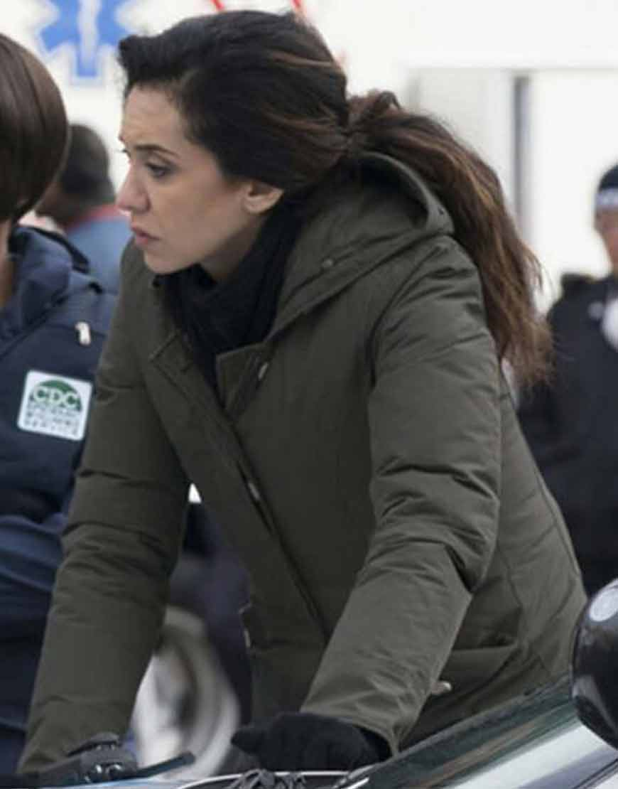 Mozhan-Marno-The-Blacklist-S08-Green-Hooded-Jacket