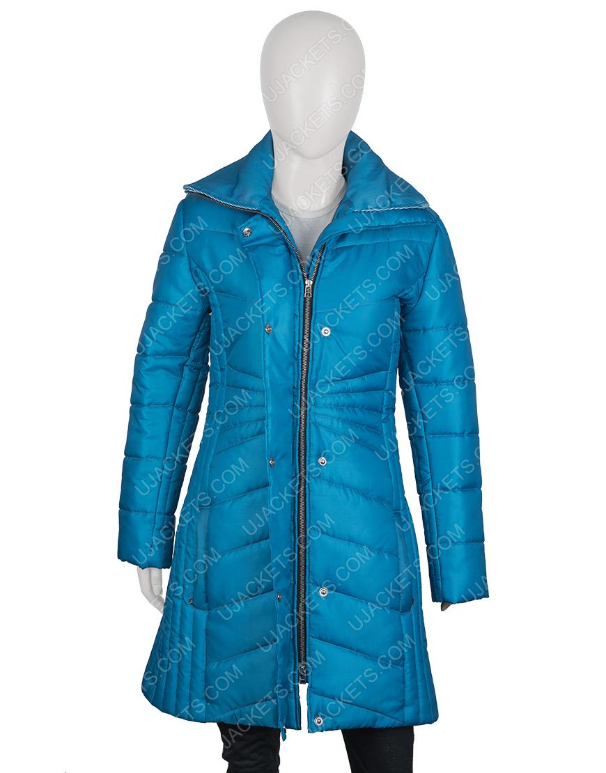 Snowkissed 2021 Jen Lilley Blue Puffer Jacket