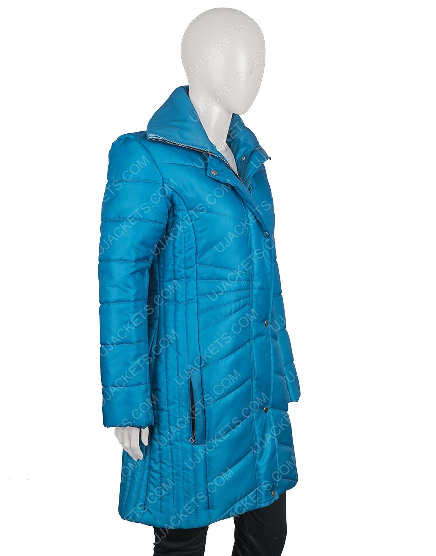 Snowkissed Jen Lilley Puffer Blue Jacket