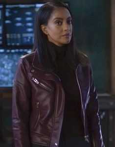 Supergirl-S06--Azie-Tesfai-Brown-Leather-Jacket