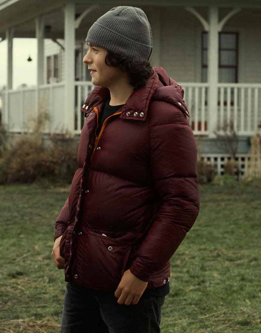 Superman-and-Lois-Jordan-Kent-Maroon-Puffer-Jacket