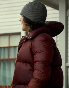 Superman-and-Lois-Maroon-Puffer-Hooded-Jacket