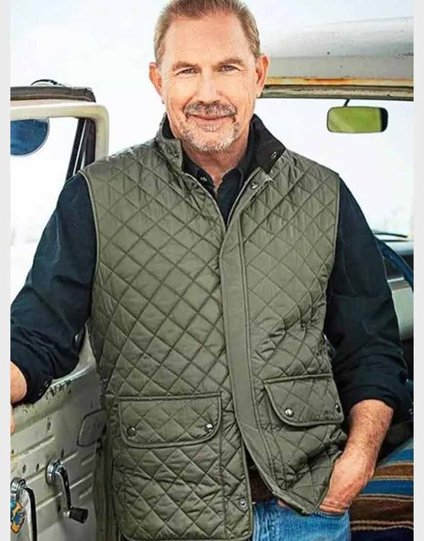 Yellowstone-S04-John-Dutton-Green-Quilted-Vest