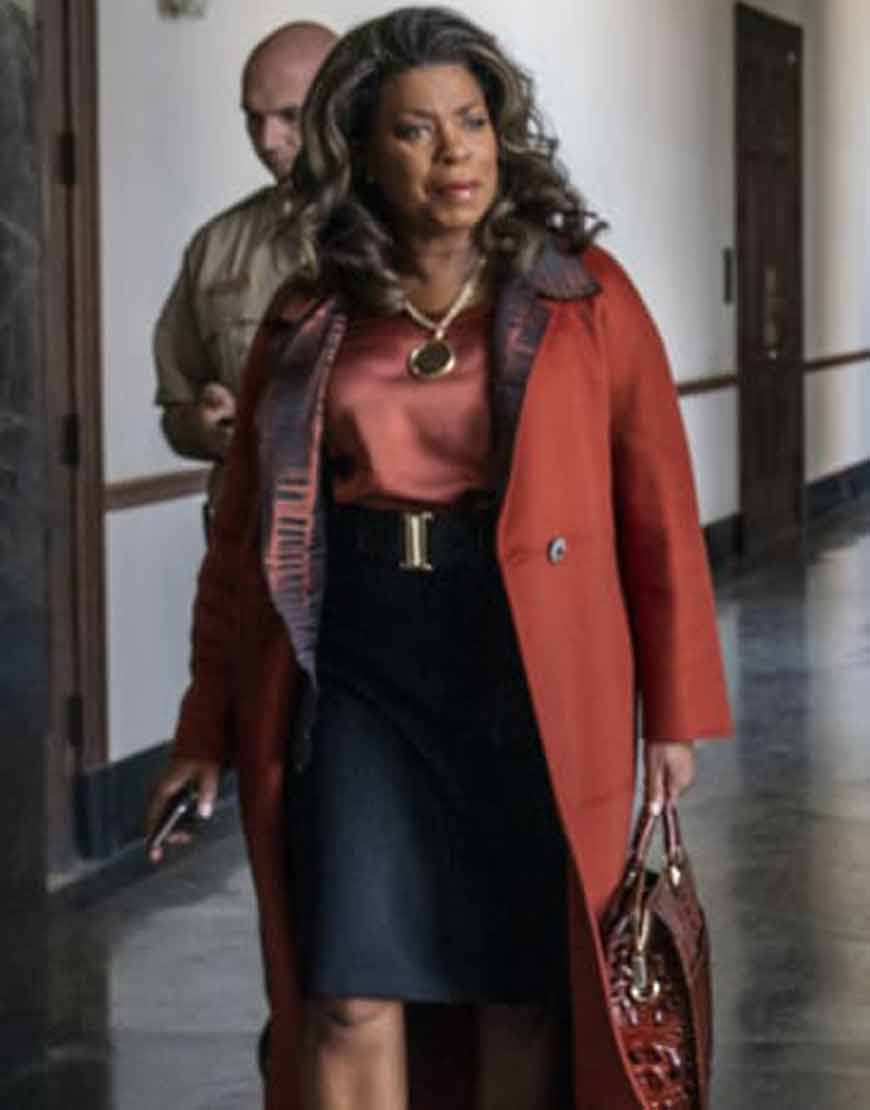 Your-Honor-2021-Lorraine-Toussaint-Brown-Trench-Coat