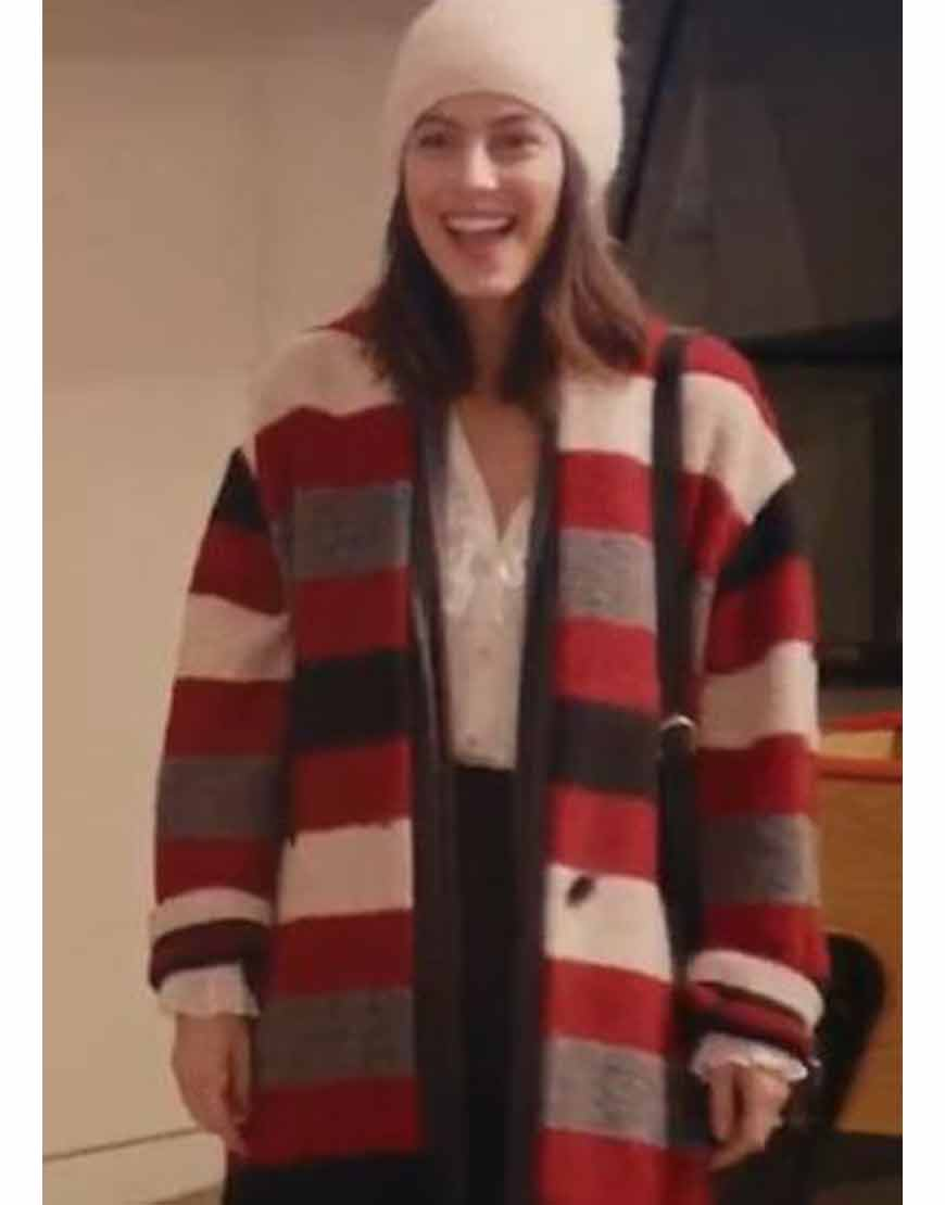 Alessandra-Mastronardi-Master-Of-None-S03-Woolen-Striped-Coat