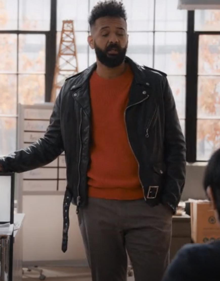 Amadi TV-Series Shrill S03 Ian Owens Black Leather Jacket