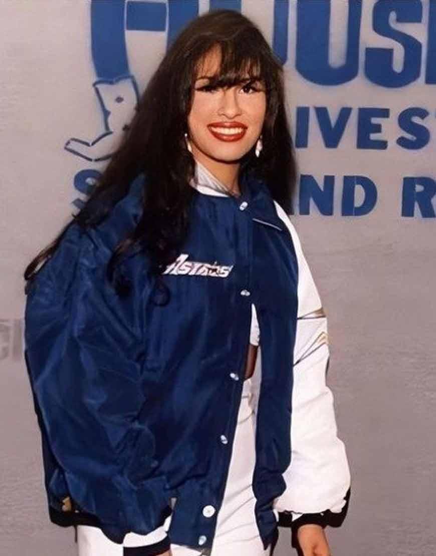 American-Singer-Selena-Quintanilla-1994-Blue-White-Bomber-Jacket