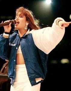 American-Singer-Selena-Quintanilla-Blue-White-Jacket