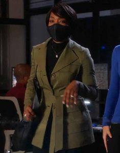 Angela-Bassett-TV-Series-9-1-1-Athena-Grant-Olive-Trench-Coat