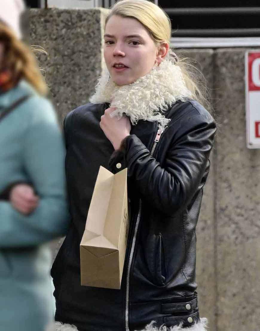 Anya-Taylor-Joy-Fur-Leather-Jacket