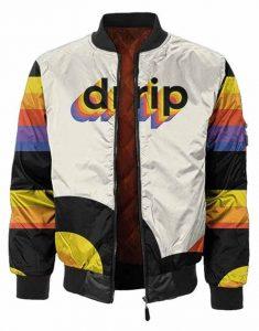 Multicolor-Drip-Satin-Jacket