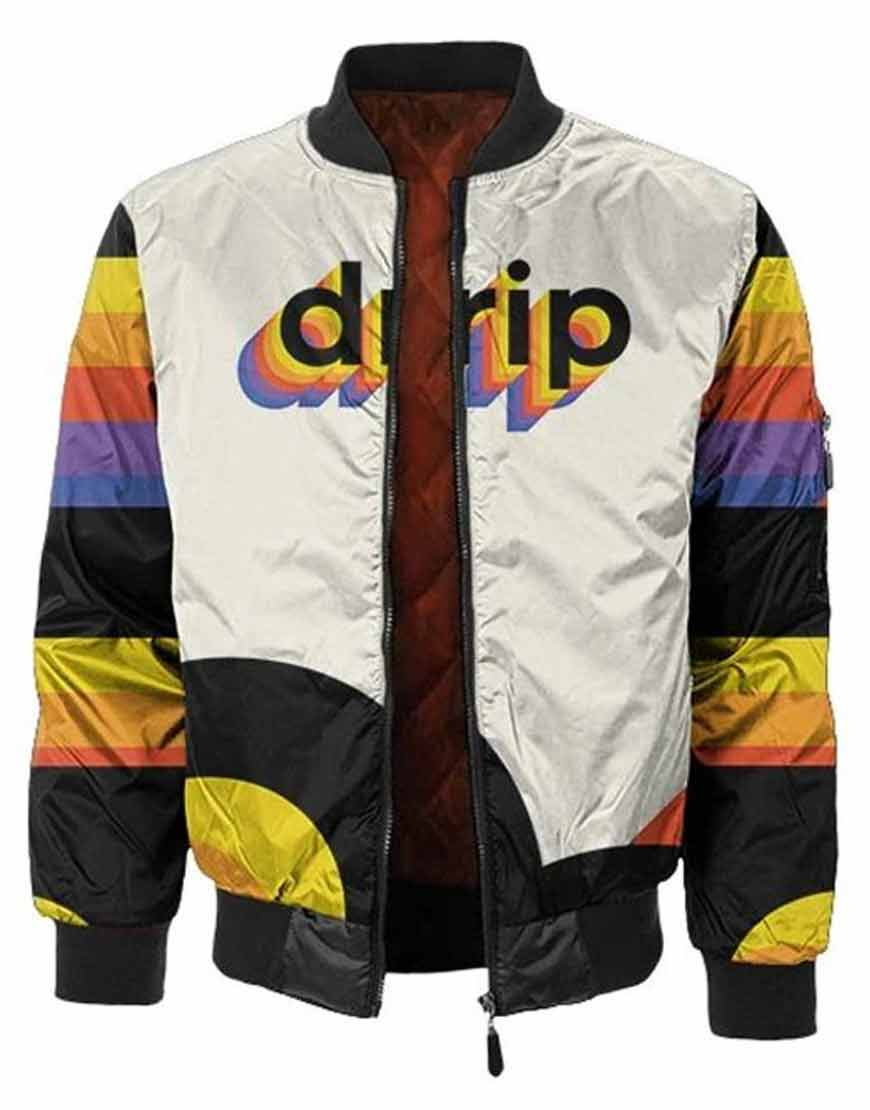 Multicolor-Drip-Satin-Jacket