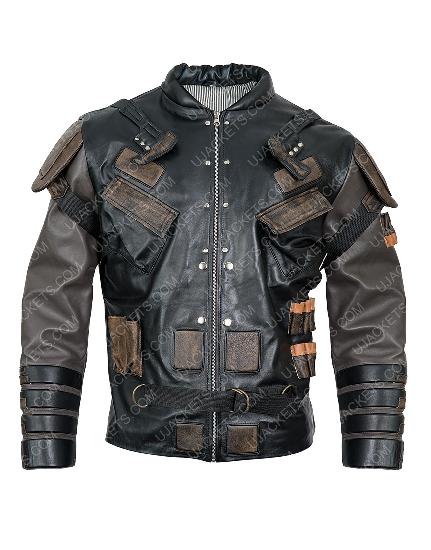 Pete Davidson The Suicide Squad 2 Black Leather Blackguard Jacket