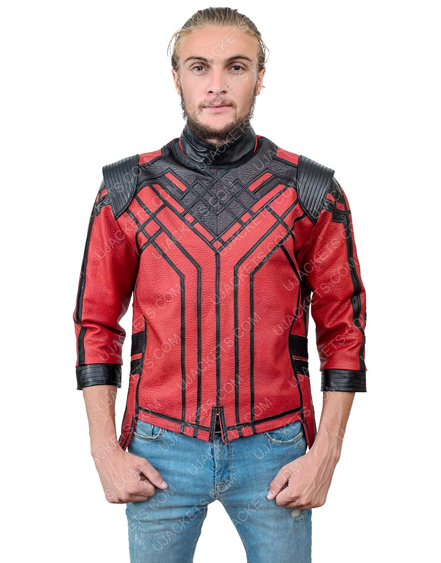 Shang-Chi And The Legend Of The Ten Rings Simu Liu Red Jacket
