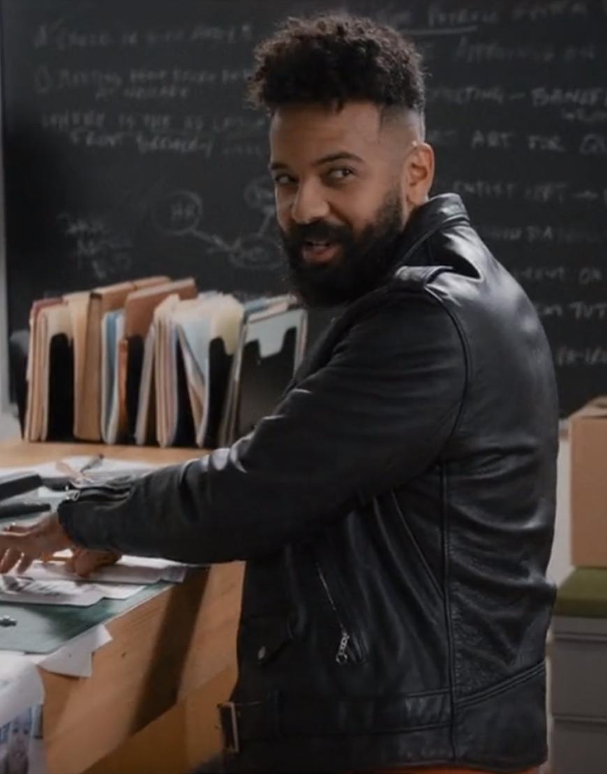 Shrill S03 Ian Owens Black Leather Jacket