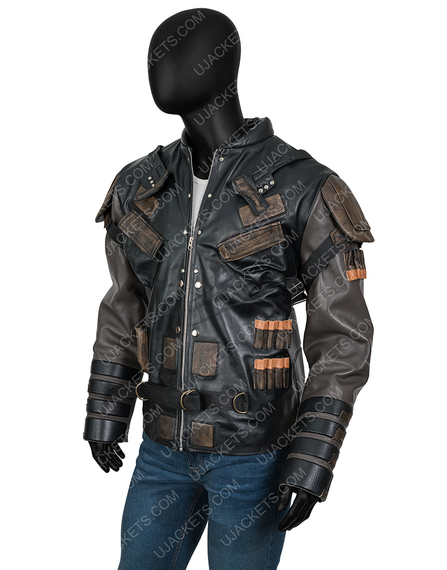 The Suicide Squad 2 Leather Blackguard Jacket