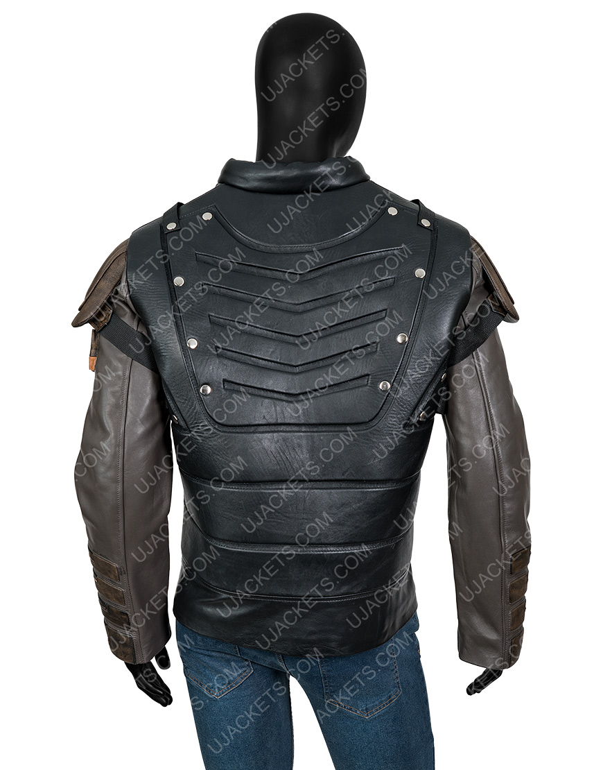 The Suicide Squad 2 Pete Davidson Black Leather Blackguard Jacket