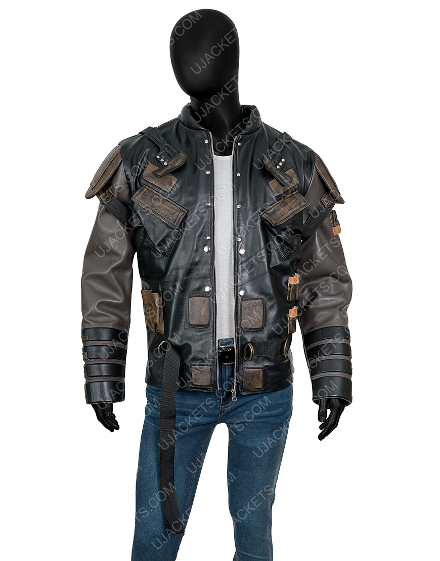 The Suicide Squad 2 Pete Davidson Leather Blackguard Jacket