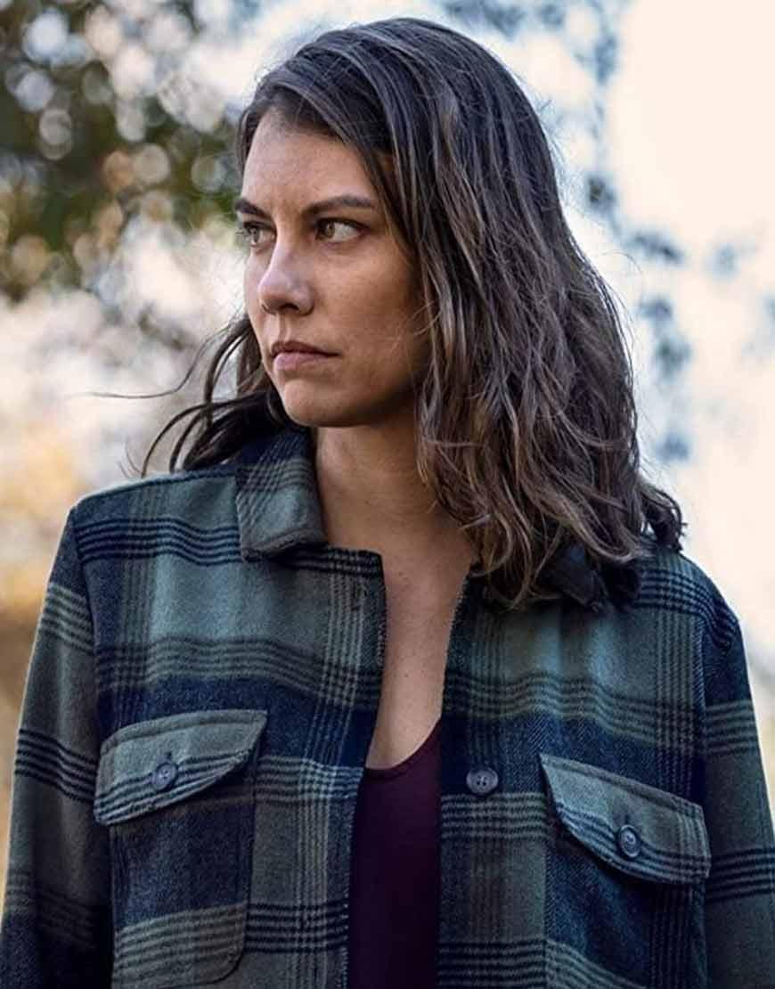 The-Walking-Dead-S10-Maggie-Rhee-Plaid-Jacket