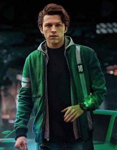 Tom-Holland-Ben-10-2021-Green-Bomber-Jacket