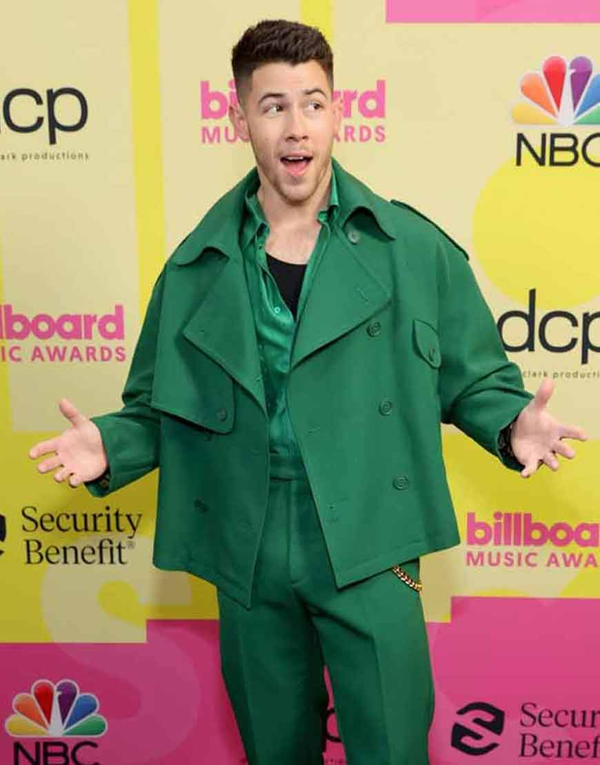 Billboard-Music-Awards-2021-Nick-Jonas-Green-Peacoat