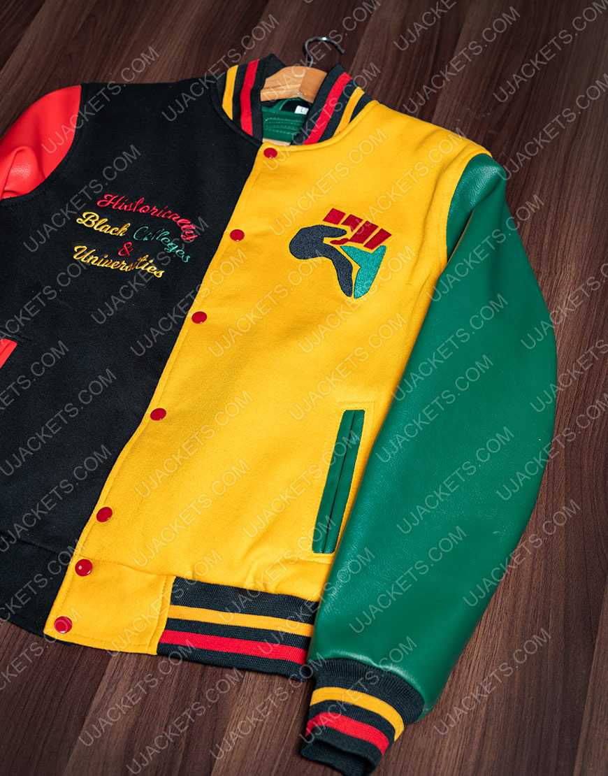 Donovan Mitchell HBCU Pride Letterman Jacket For Men
