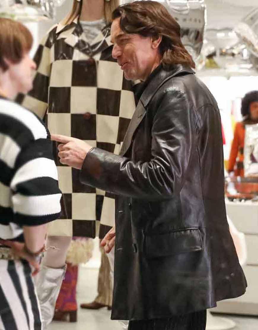 Ewan-2021-McGregor-Black-Leather-Mid-length-Coat