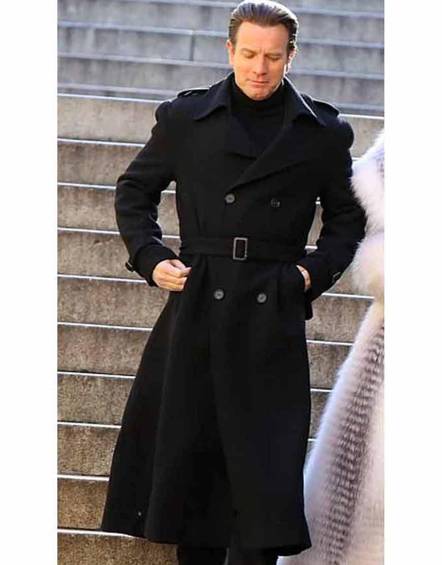 Ewan-McGregor-Halston-2021-Black-Double-Breasted-Coat