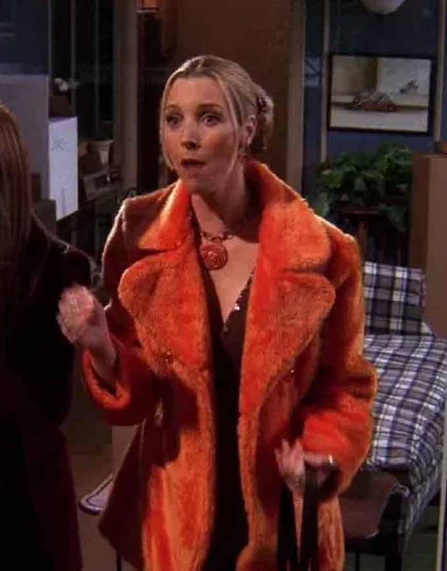 Friends-Season-05-Phoebe-Buffay-Orange-Faux-Fur-Coat