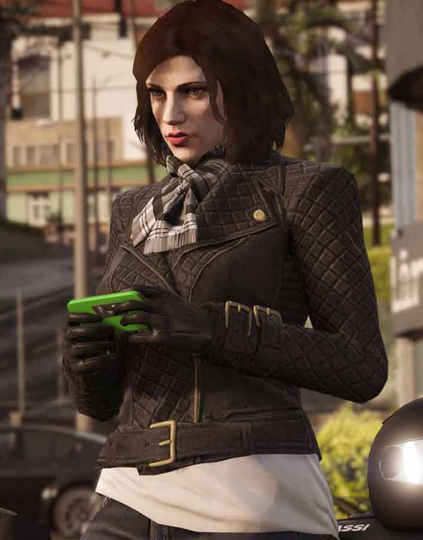 GTA-6-Female-Protagonist-Quilted-Black-Leather-Jacket