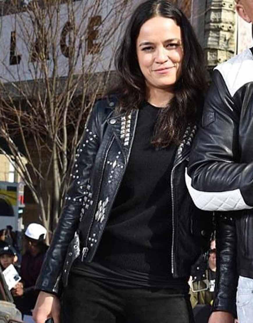 Letty-Ortiz-F9-New-York-City-Premiere-Black-Leather-Jacket