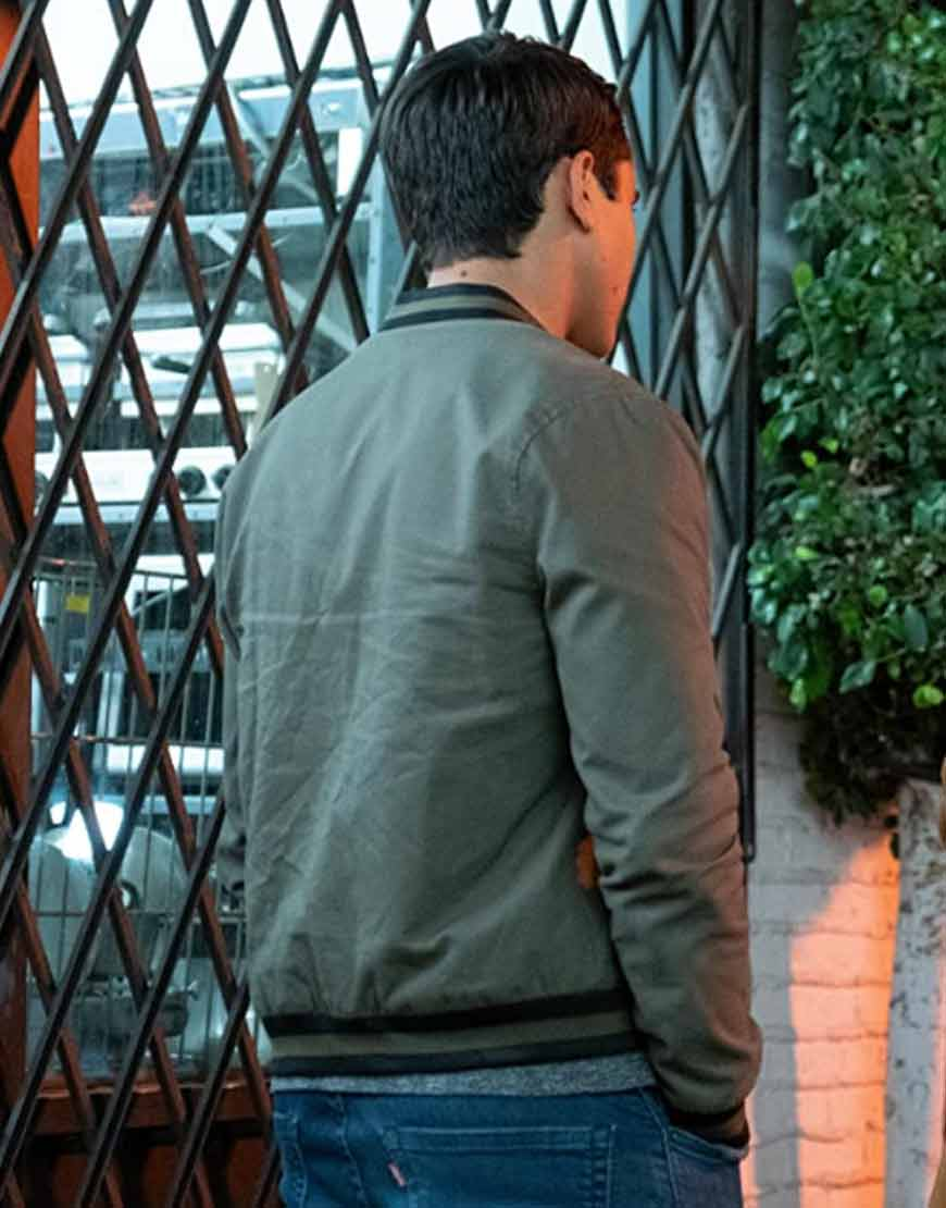 Love-Victor-S02-Michael-Cimino-Brown-Bomber-Jacket