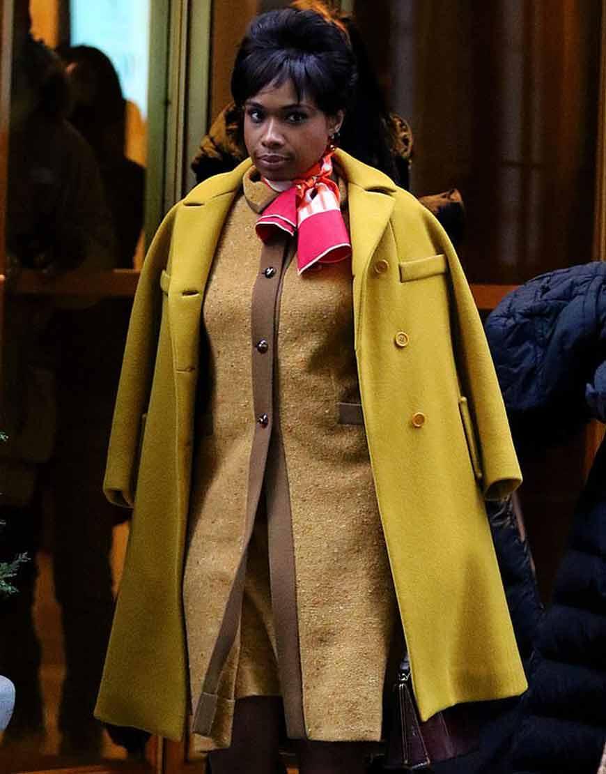 Respect-2021-Aretha-Franklin-Yellow-Wool-Blend-Coat