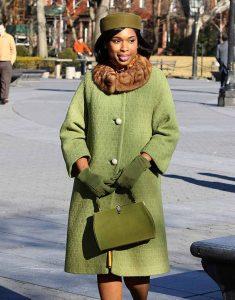 Respect-2021-Jennifer-Hudson-Green-Woolen-Coat
