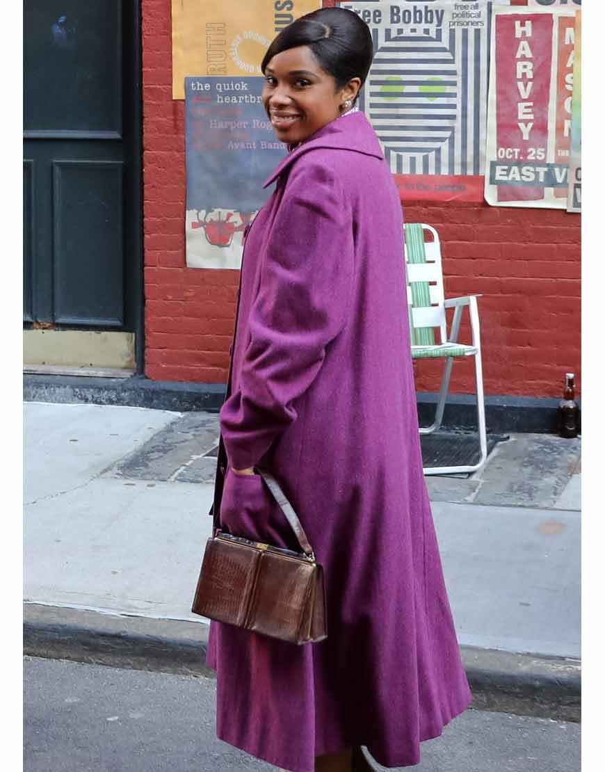 Respect-2021-Jennifer-Hudson-Purple-Coat-Back