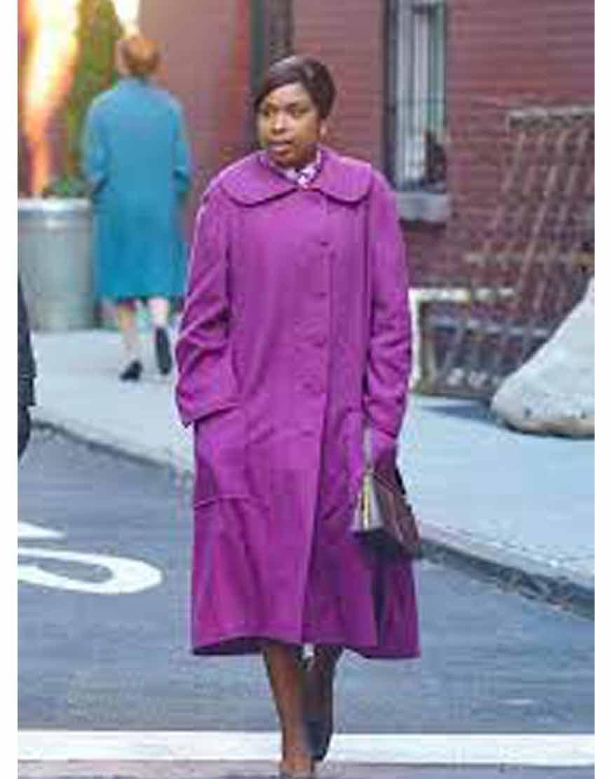Respect-2021-Jennifer-Hudson-Purple-Wool-Blend-Coat