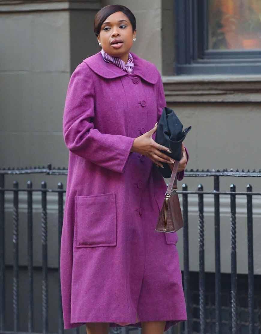 Respect-2021-Jennifer-Hudson-Purple-Woolen-Coat