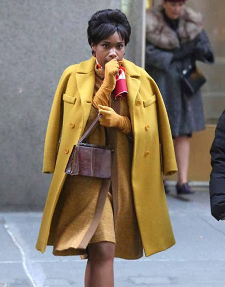 Respect-2021-Jennifer-Hudson-Yellow-Wool-Blend-Coat