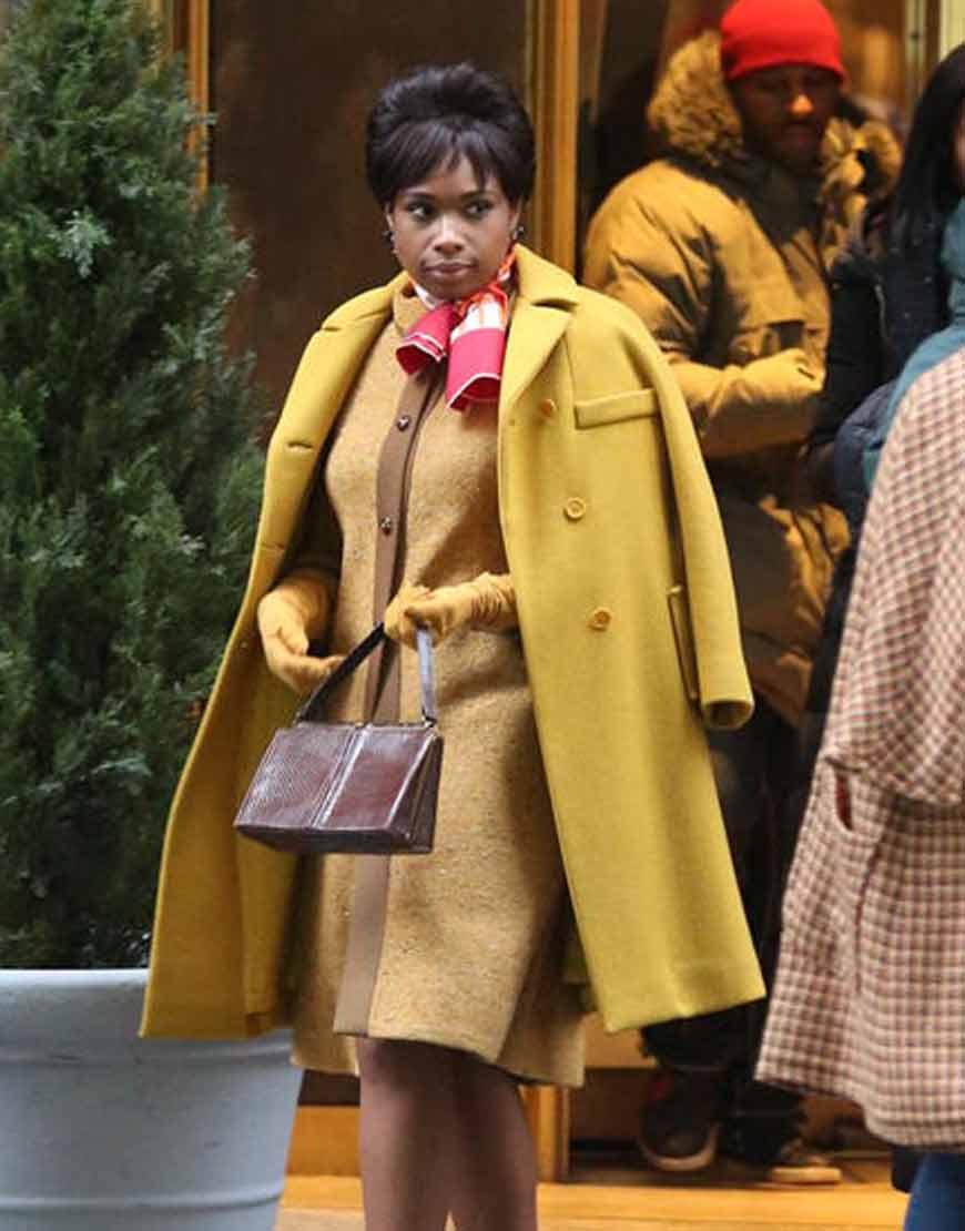 Respect--Jennifer-Hudson-Yellow-Wool-Blend-Coat