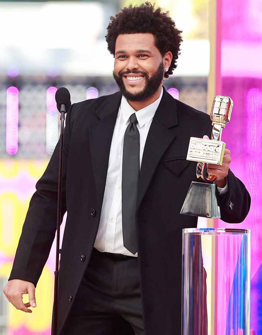The-Weeknd-Black-Trench-Billboard-Music-Awards-2021-Coat