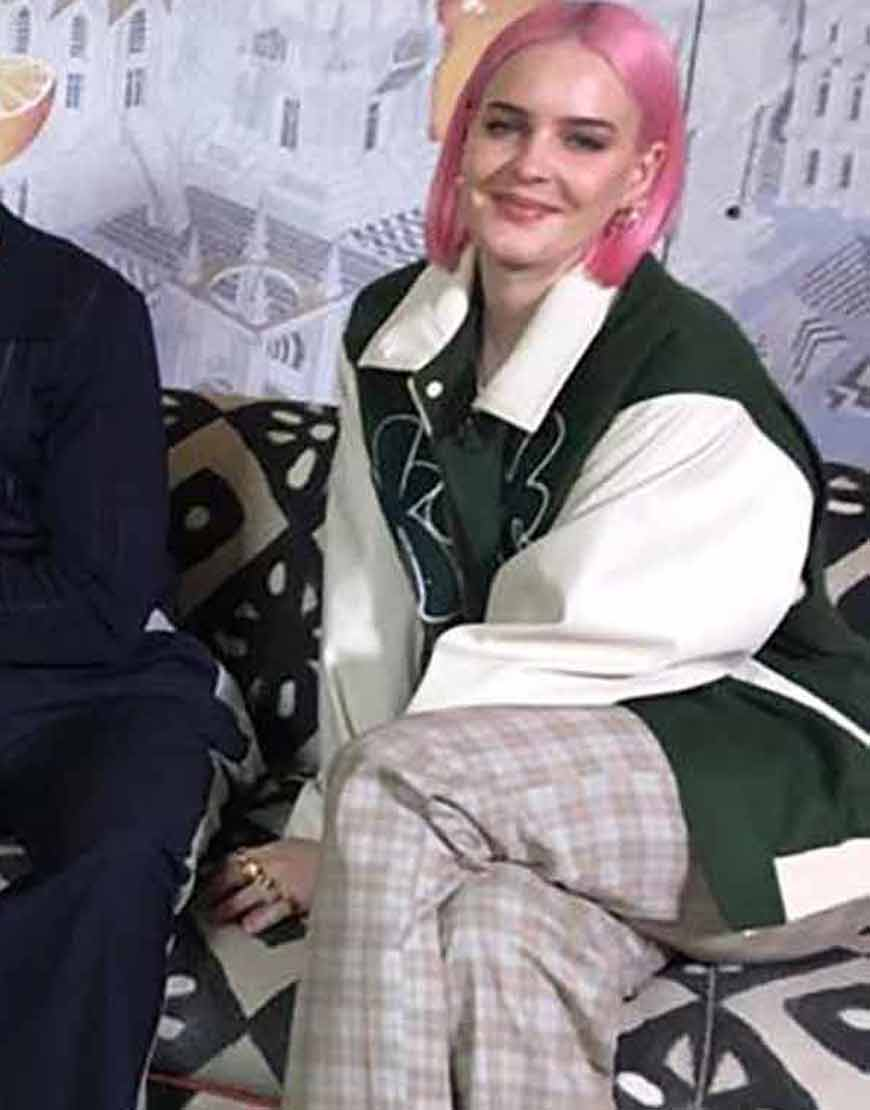 Anne-Marie-Our-Song-2021-Green-Bomber-Jacket