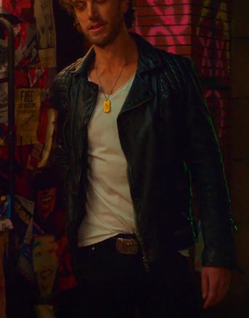 Brad Simon SexLife Adam 2021 Demos Black Leather Jacket