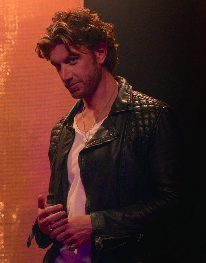 Brad Simon TV-Series SexLife Adam 2021 Demos Black Leather Jacket